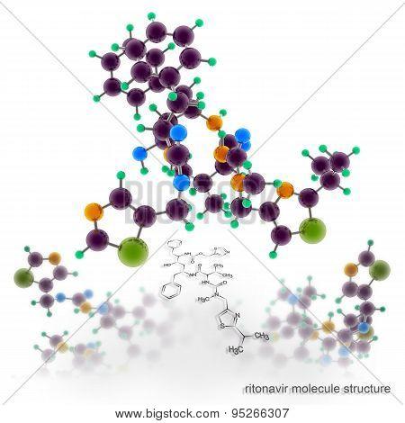 Ritonavir-norvir Molecule Structure