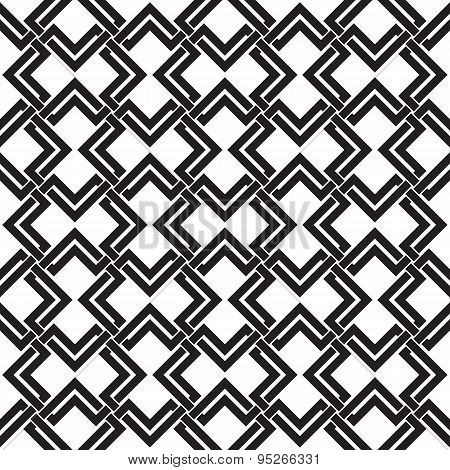 Seamless pattern of intersecting double rhombuses