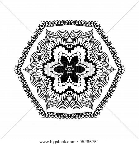 Mandala. Round Oriental Pattern In Indian Style