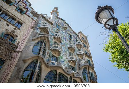 Barcelona, Spain - May 26, 2015: Casa Batllo building by Gaudi in Barcelona