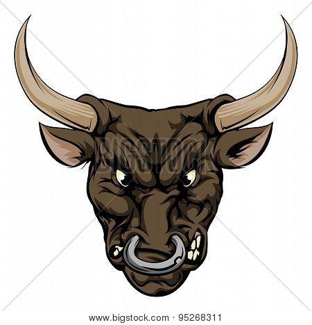 Bull Mascot Character