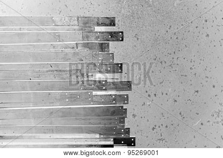 Abstract Metal Slat