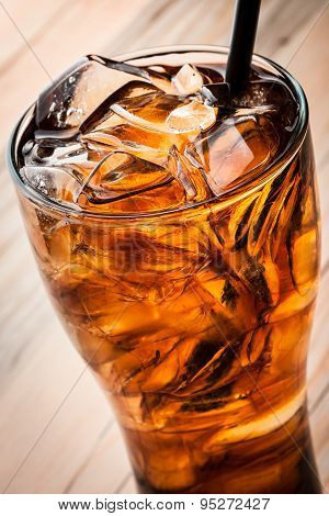 Alcoholic Cocktail with cola