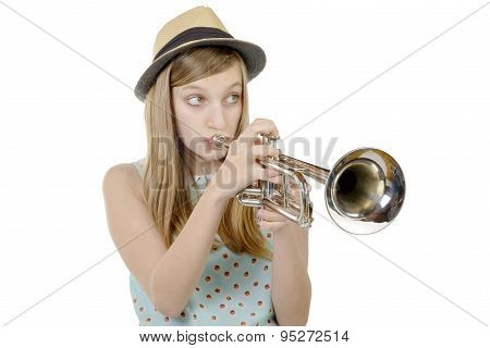 A Pretty Girl Plays Trumpet