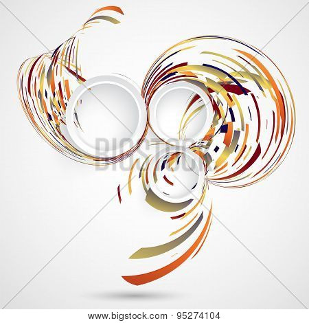 Abstract Technology Background with multicolored swirls
