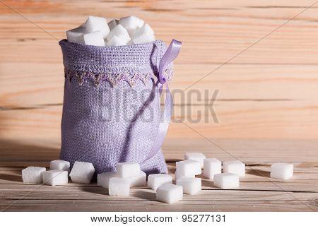 White Sugar Cubes Closeup