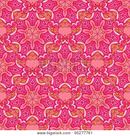 Colorful Ethnic Festive Abstract Floral Vector Pattern