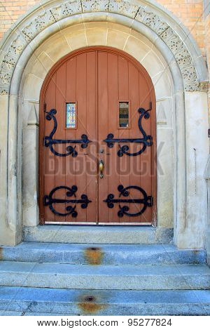 Beautiful stone entryway to church