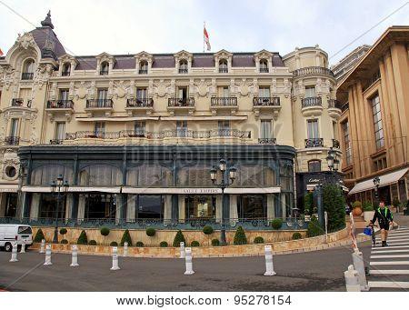 Ornate Building Of Hotel De Paris, Monte-carlo