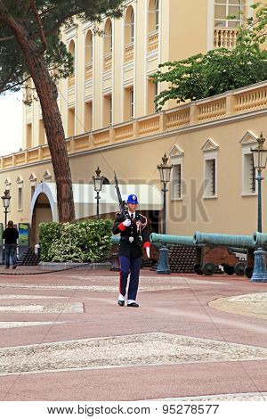Changing Of Guard At Royal Palace, Monte-carlo, Monaco.