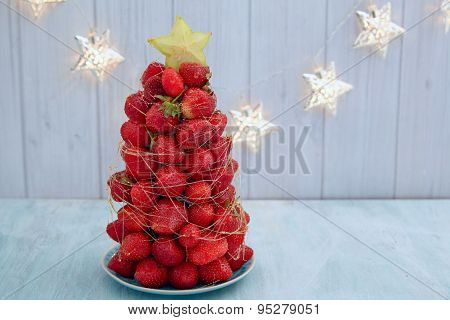Strawberry Christmas tree