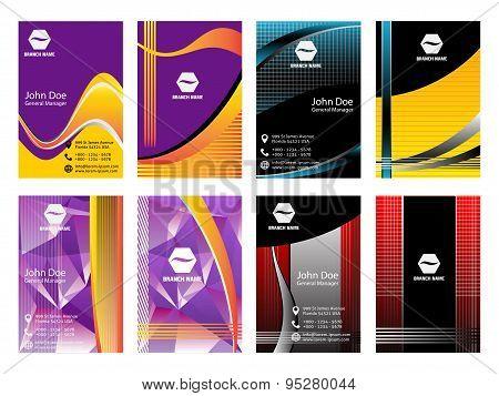 Vertical Business Card. Vector Business Card vertical