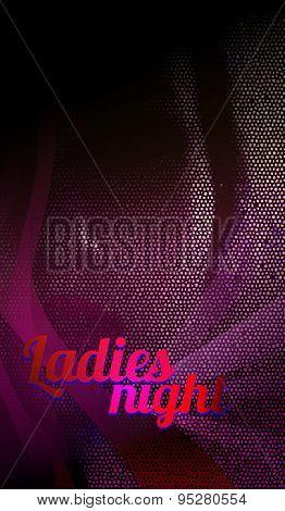 Ladies night, dance party flyer