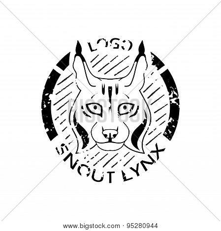 Logotype with lynx.