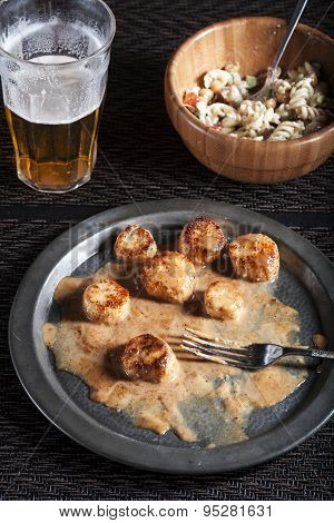 Seared Fennel Coconut Scallops