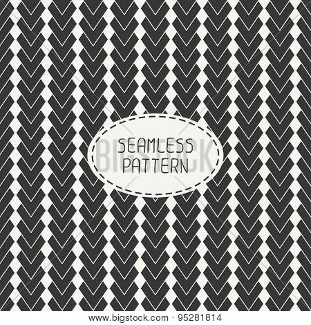 Geometric abstract striped seamless pattern with chevron. Paper for scrapbook. Vector illustration.