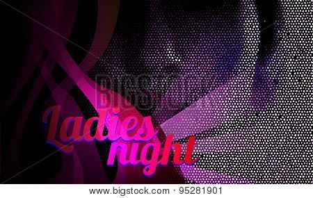 Ladies night flyer vector