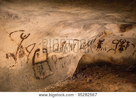Destroyed By Vandals Cave Drawings, The Magura Cave