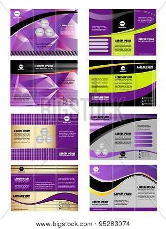 Professional three fold business template, corporate brochure or cover design, for publishing, print