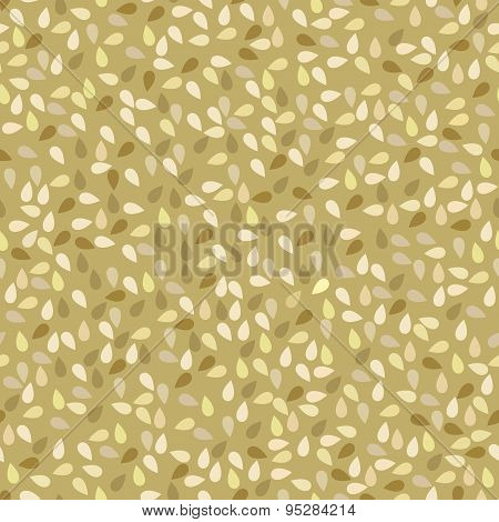 Seamless Pattern With Sesame