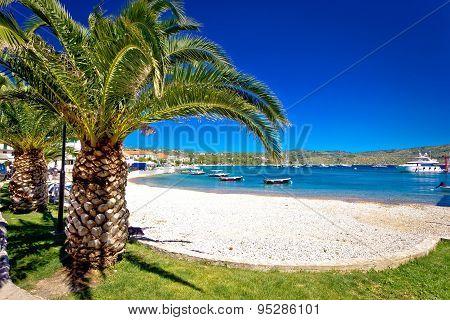 Idyllic Palm Beach In Primosten