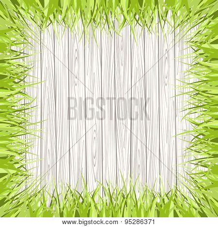 wooden frame surrounded by grass