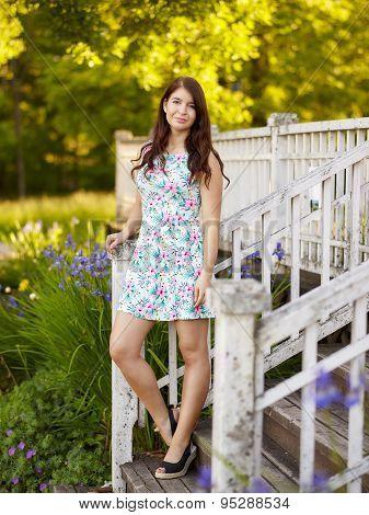 Attractive Brunette Girl - Summery Portrait