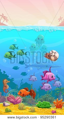 Underwater Tropical Illustration