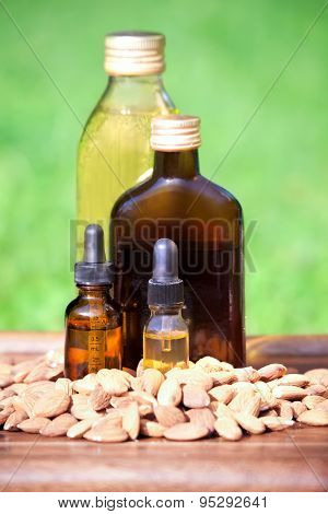 Almond Oil In A Bottles
