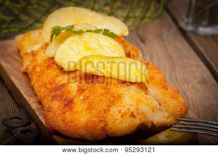 Fried Cod Fillet.