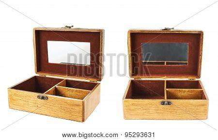 Old-fashioned wooden casket