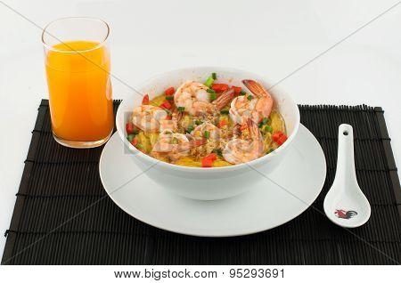 Steamed Egg with shrimp