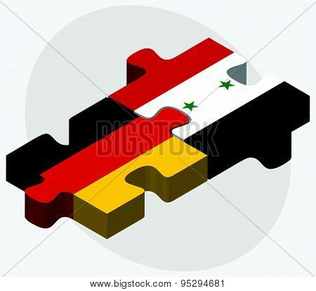 Germany And Syria Flags