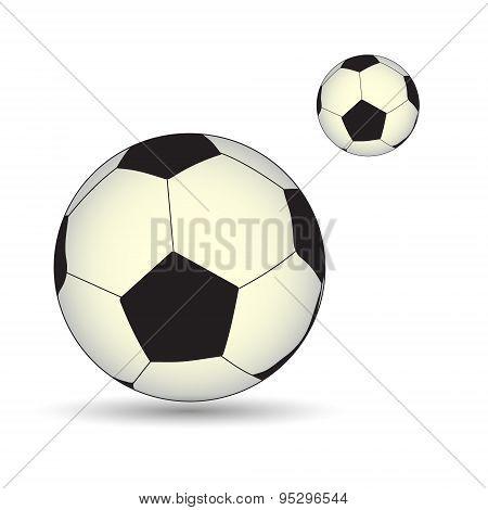 Soccer And Football Ball Real Vector Symbol Eps10