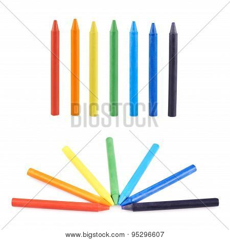 Multiple wax crayons set