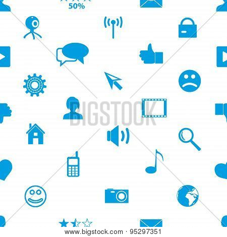 Web And Social Networks Simple Icons Seamless Pattern Eps10