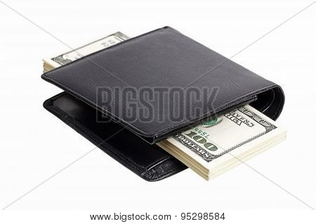 Stack Of Dollars In A Wallet