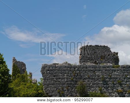 Thre remains of a Croatian fortress