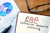 foto of enterprise  - Notepad with Enterprise Resource Planning System  - JPG