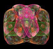 picture of gem  - Abstract fractal big bright colored gem background - JPG