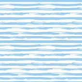 picture of rough-water  - Vector seamless pattern with blue brush strokes - JPG