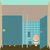 picture of pissoire  - Toilet interior vector illustration - JPG
