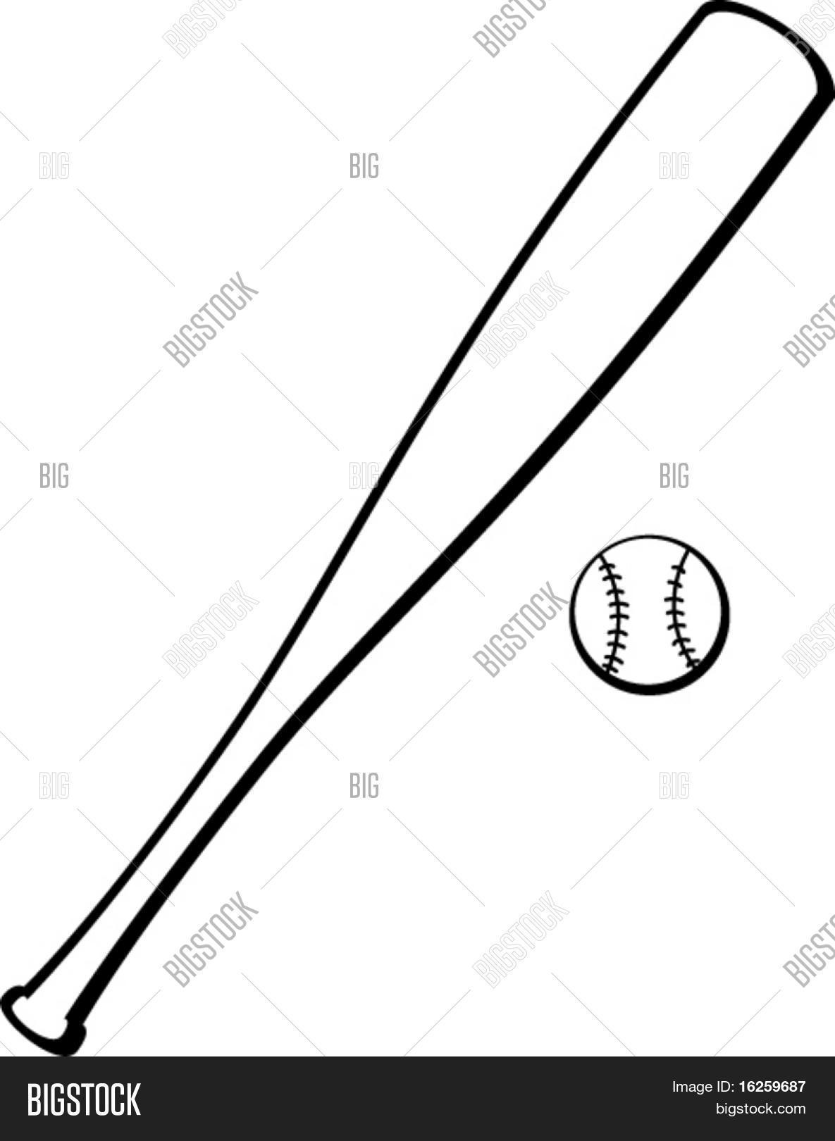 baseball bat and ball Stock Vector & Stock Photos | Bigstock