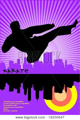Karate flying kick