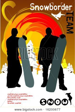 snowboarder - vector illustration