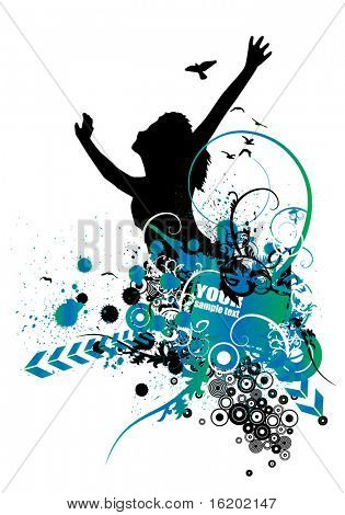 Vector illustration of abstract style background