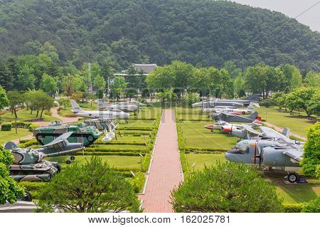 Patriotic Articles Exhibition at Daejeon National Cemetery South Korea 25 may 2016