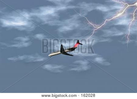Airplane In Storm