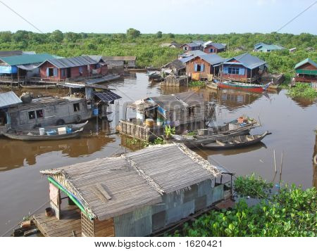 Village On A Lac, Tonle Sap Lake, Cambodgia