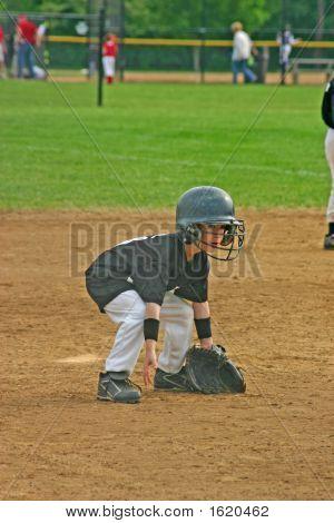 Boy spielen baseball